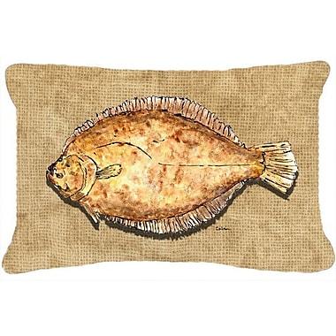 Caroline's Treasures Flounder Indoor/Outdoor Throw Pillow
