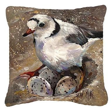 Caroline's Treasures Piping Plover Indoor/Outdoor Throw Pillow; 18'' H x 18'' W x 5.5'' D