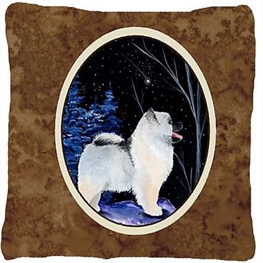 Caroline's Treasures Starry Night Keeshond Indoor/Outdoor Throw Pillow