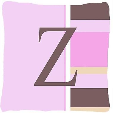 Caroline's Treasures Monogram Initial Pink Stripes Indoor/Outdoor Throw Pillow; Z