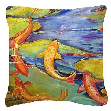 Caroline's Treasures Koi Indoor/Outdoor Throw Pillow; 18'' H x 18'' W x 5.5'' D