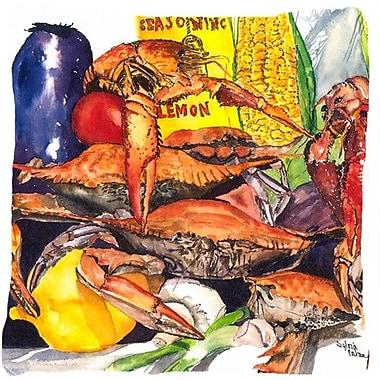 Caroline's Treasures Veron's and Crabs Indoor/Outdoor Throw Pillow