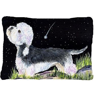 Caroline's Treasures Starry Night Dandie Dinmont Terrier Indoor/Outdoor Throw Pillow