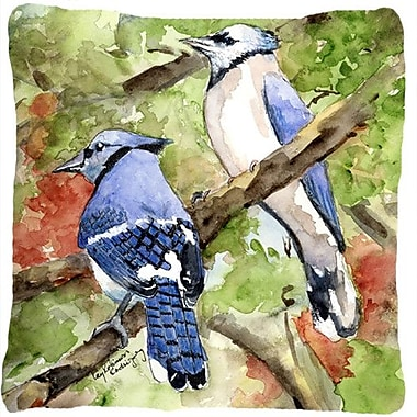 Caroline's Treasures Blue Jay Indoor/Outdoor Throw Pillow