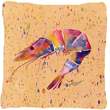 Caroline's Treasures Shrimp Indoor/Outdoor Throw Pillow; Red/Tan