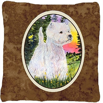 Caroline's Treasures Westie Indoor/Outdoor Throw Pillow