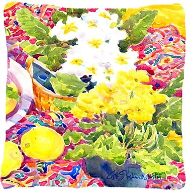 Caroline's Treasures Primroses Indoor/Outdoor Throw Pillow