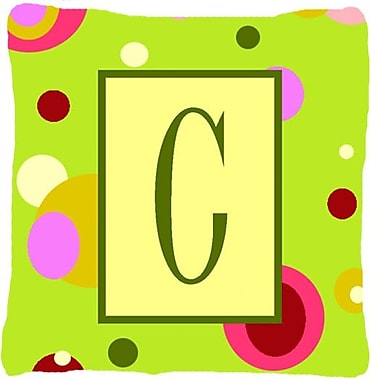 Caroline's Treasures Letter Initial Monogram Indoor/Outdoor Throw Pillow; C