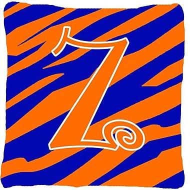Caroline's Treasures Monogram Initial Tiger Stripe Indoor/Outdoor Throw Pillow; Z