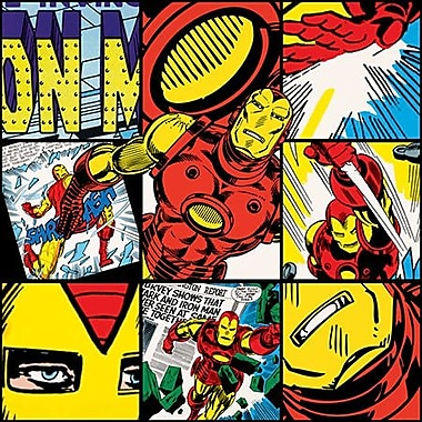 iCanvas Marvel Comics Iron Man Collage Graphic Art on Canvas; 12'' H x 12'' W x 1.5'' D