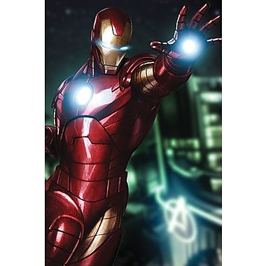 iCanvas Marvel Comics Tony Stark Aka Iron Man Graphic Art on Canvas; 60'' H x 40'' W x 1.5'' D