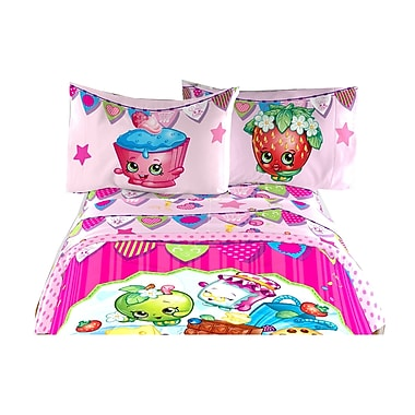 Shopkins - Ensemble de draps pour lit simple