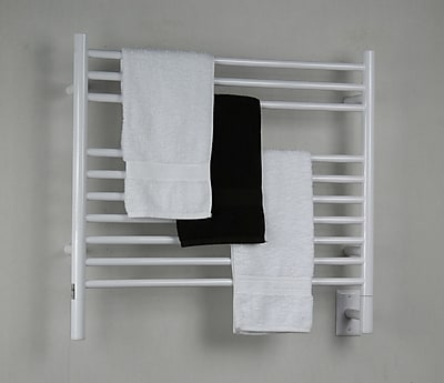 Amba Jeeves Wall Mount Electric K Straight Towel Warmer; White