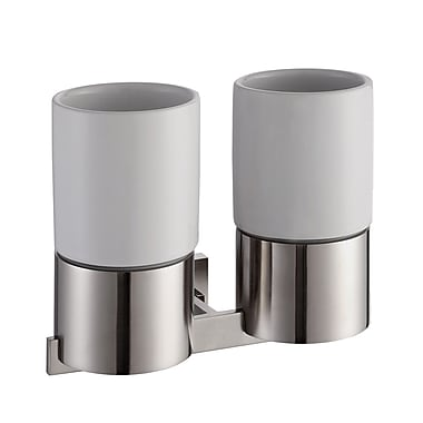 Kraus Aura 2 Piece Bathroom Accessory; Chrome
