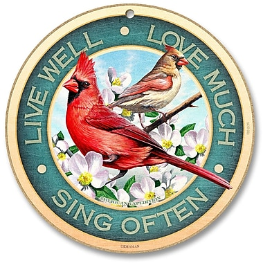 AmericanExpedition 'Live Well - Love Much - Sing Often' Vintage Advertisment Plaque