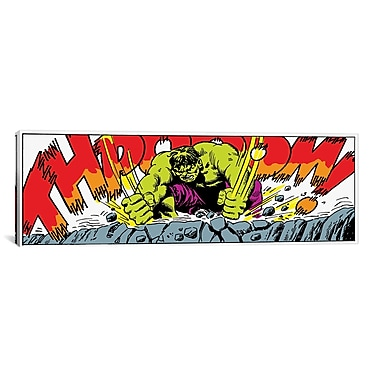 iCanvas Marvel Comics Hulk Art Panel B Graphic Art on Canvas