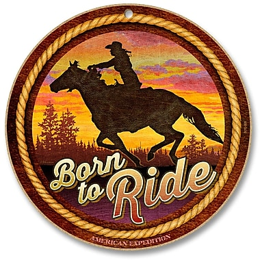 AmericanExpedition 'Born to Ride' Vintage Advertisment Plaque