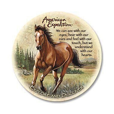 AmericanExpedition 5 Piece Mustang Stone Coaster Set