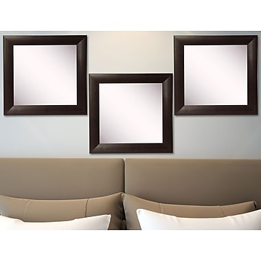 Rayne Mirrors Ava Leather Wall Mirror (Set of 3)