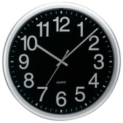 TEMPUS 13.5 Inch Commercial Style Silver Quartz Wall Clock (TC7000S)