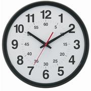 """TEMPUS DST Auto-Adjust Minute-Minder Black Wall Clock, Plastic 14"""" (TC7913B)"""