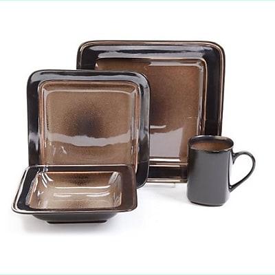 Gibson Astro Galleria 16-Piece Dinnerware Set, Brown (8909216)