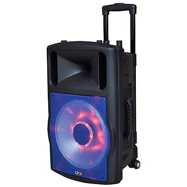 Quantum Fx 93592646M PBX-61123BTL-BL PA Speaker System, Black/Silver