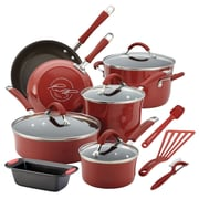 Rachael Ray Cookware Set, Red, 14-Piece (93591829M)