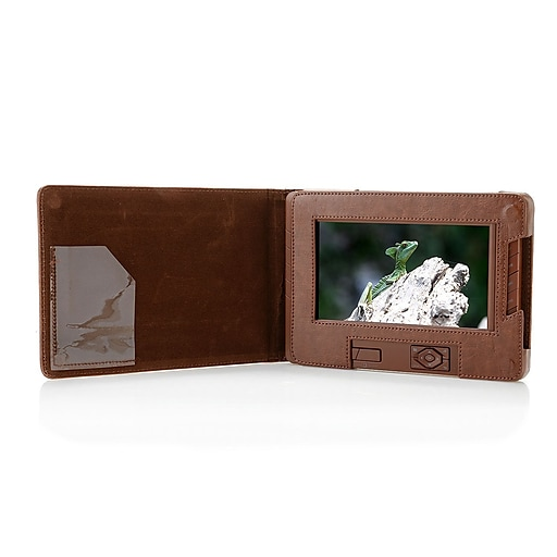 Sungale 7 Digital Photo Album With Leather Like Case Cd700a Staples