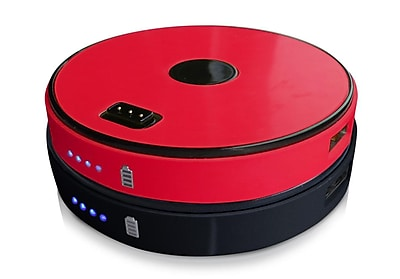 Two-Disk Round Stackable Power Bank-Red/Black (SPB0200-RB)