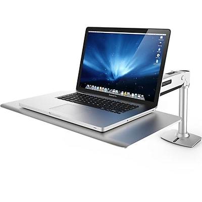 Ergotron Work Station Sit & Stand Desk, Gray/Silver (24-408-227)