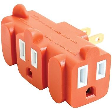 Axis – Adaptateur de mise la terre robuste à 3 prises, orange (45091)