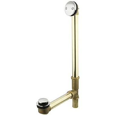 Kingston Brass Made to Match Tip-Toe Leg Tub Bathroom Sink Drain w/ Overflow; Chrome