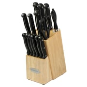 Oceanstar Design Contemporary 15 Piece Knife Block Set; Natural