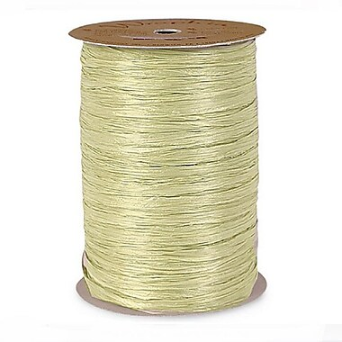 B2B Wraps Wraphia Matte, 18mm x 100 Yards, Antique Gold, 3/Pack