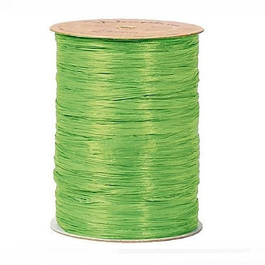 B2B Wraps Wraphia Matte, 18mm x 100 Yards, Apple Green, 6/Pack