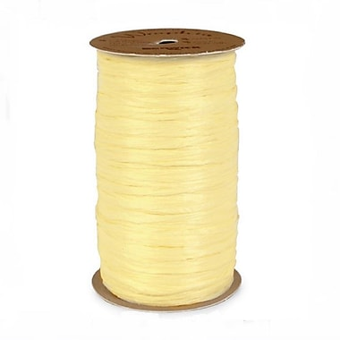 B2B Wraps Wraphia Matte, 18mm x 100 Yards, Yellow, 6/Pack