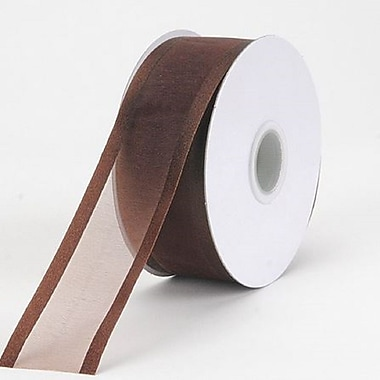 B2B Wraps Organza Sheer Ribbon with Satin Edge, 1-1/2