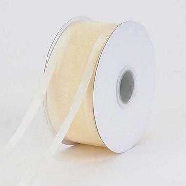 B2B Wraps Organza Sheer Ribbon with Satin Edge, 1-1/2