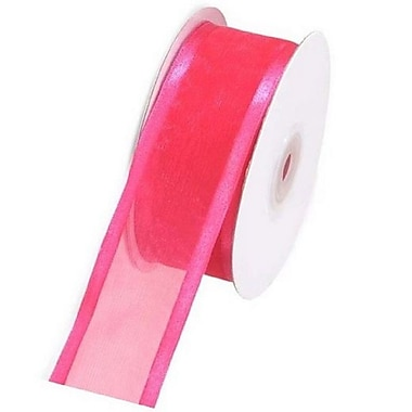 B2B Wraps Organza Sheer Ribbon with Satin Edge, 5/8