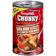 Campbells Chunky Sirloin Burger With Country Vegetables, 19 oz. Can, 8/Pack
