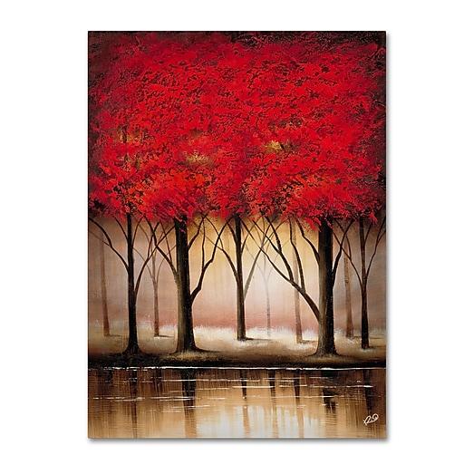Trademark Fine Art Rio 'Serenade in Red' Canvas Art 24x32 Inches