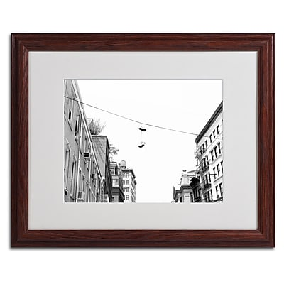 Miguel Paredes 'Lil Italy' Matted Framed Art - 16x20 Inches - Wood Frame