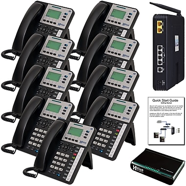 XBlue Networks VOIP Phone X25 System Bundle with 9 X3030 VoIP Telephones, 9 Phones/Set
