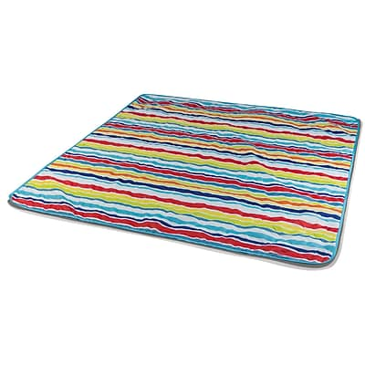 Picnic Time Vista Outdoor Blanket; Aqua Blue / Fun WYF078276675249