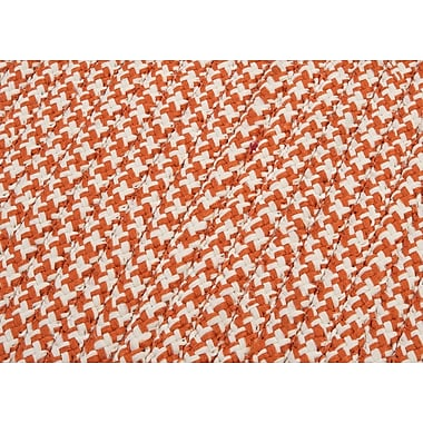 Colonial Mills Outdoor Houndstooth Tweed Orange Rug; Square 6'