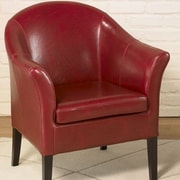 Armen Living 1404 Barrel Chair; Red