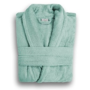 Luxor Linens Anini Rayon from Bamboo and Cotton Spa Bath Robe; Rain