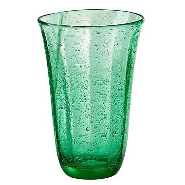 Artland Savannah Bubble Highball Glass (Set of 4); Green