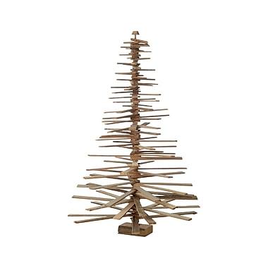 Sage & Co. Appalachian Lodge 24'' Slat Spiral Tree; 60'' H x 36'' W x 36'' D